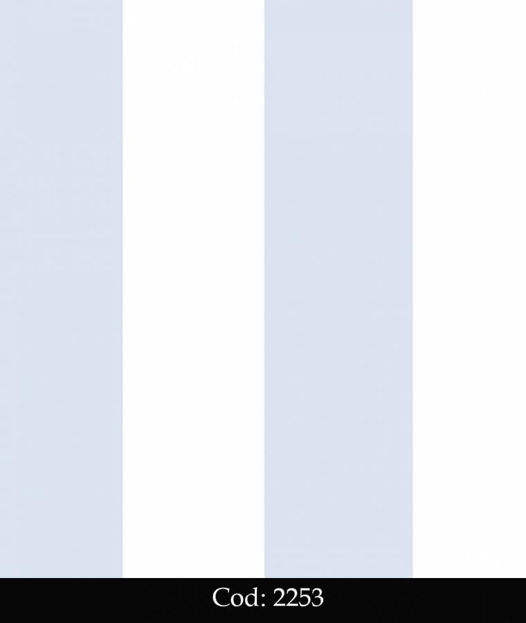 Tapet lavabil cu dungi bleu si albe pentru copii cod 2253 gama BIM BUM BAM - BLISS ART