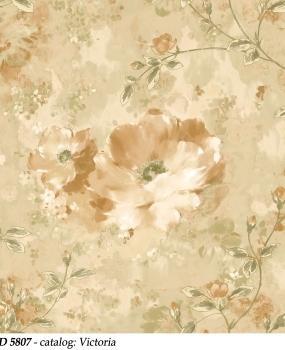 tapet-lavabil-cu-flori-mari-maro-deschis-cod-5807-victoria-bliss-art-design