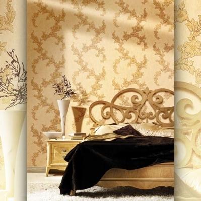 Tapet lavabil cu flori si aspect de catifea pentru dormitor si living gama DESIDERIA