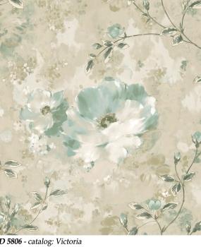 tapet-lavabil-cu-flori-turcoaz-cod-5806-victoria-bliss-art-design