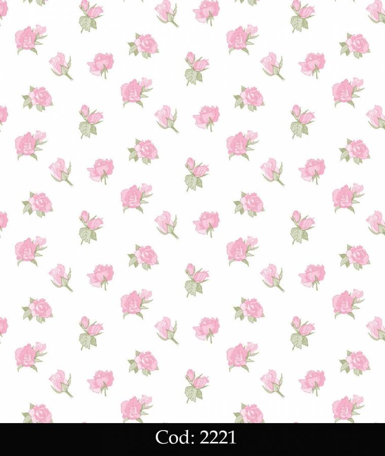 Tapet lavabil cu trandafiri roz pentru fetite cod 2221 gama BIM BUM BAM - BLISS ART