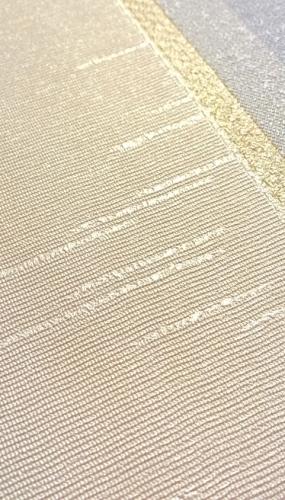 Tapet lavabil dungi crem albastru pentru dormitor gama CARLOTTA productie PARATO Italia