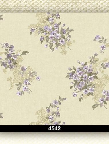 Tapet lavabil floral pentru dormitor si living 4542