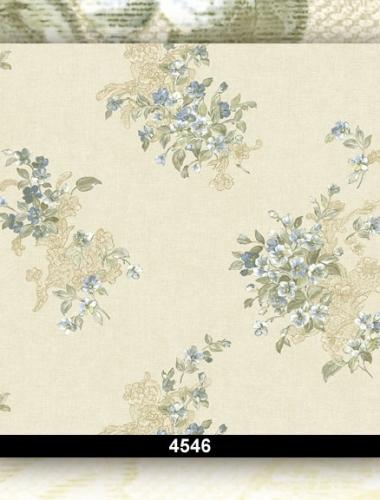 Tapet lavabil floral pentru dormitor si living 4546