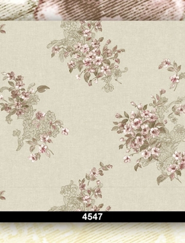 Tapet lavabil floral pentru dormitor si living 4547