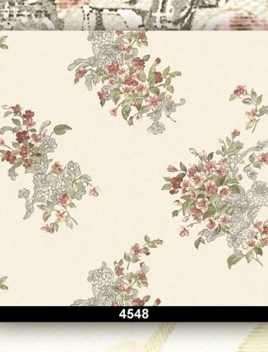 Tapet lavabil floral pentru dormitor si living 4548