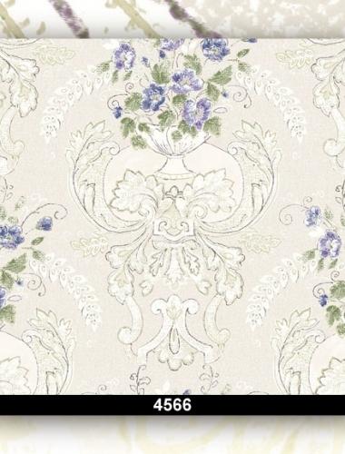 Tapet lavabil floral pentru dormitor si living 4566