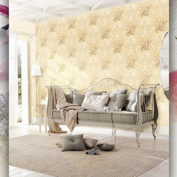 Tapet lavabil floral pentru dormitor si living gama UNICA