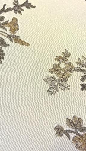 Tapet lavabil flori alb negru pentru dormitor gama CARLOTTA productie PARATO Italia