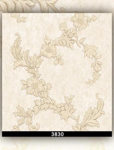 Tapet lavabil ivoire cu flori pentru dormitor si living gama DESIDERIA cod 3830