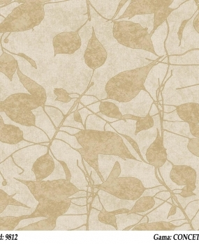 Tapet-lavabil-model-cu-frunze-Cristiana-Masi-gama-CONCETTO-cod-9812