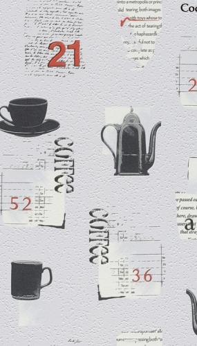 Tapet lavabil pentru bucatarie model cesti cafea cod TM885613