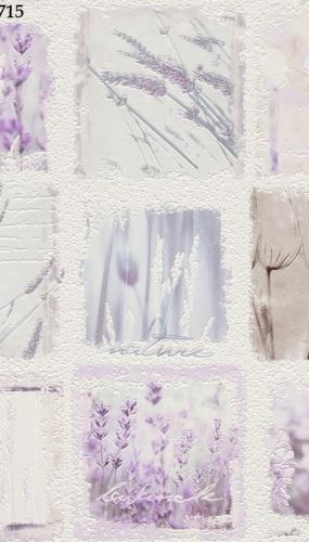 Tapet lavabil pentru bucatarie model cu flori de levantica cod TM884715