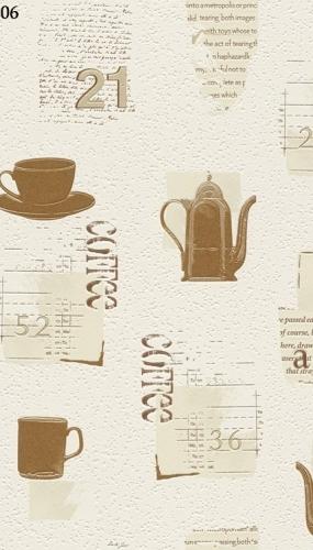 Tapet lavabil pentru bucatarie sau cafenea model cesti cafea cod TM885606