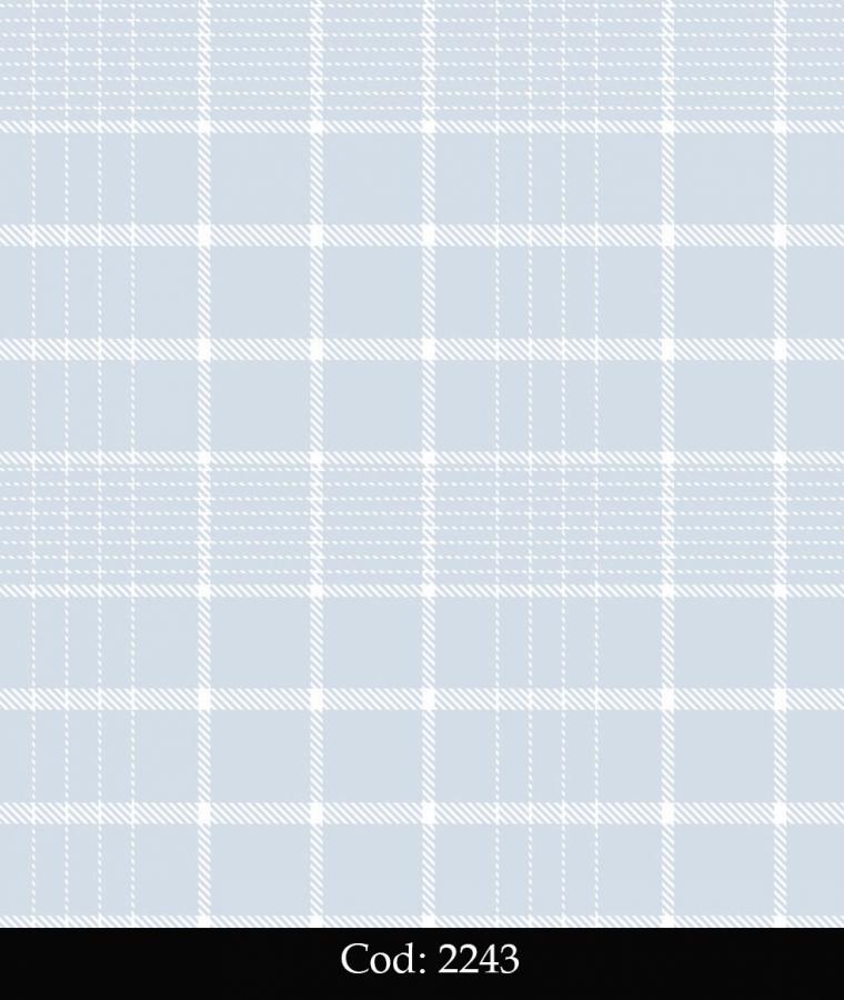 Tapet lavabil pentru copii culoare bleu carouri cod 2243 gama BIM BUM BAM - BLISS ART