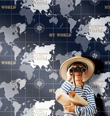 Tapet harta lumii pentru copii gama Favola