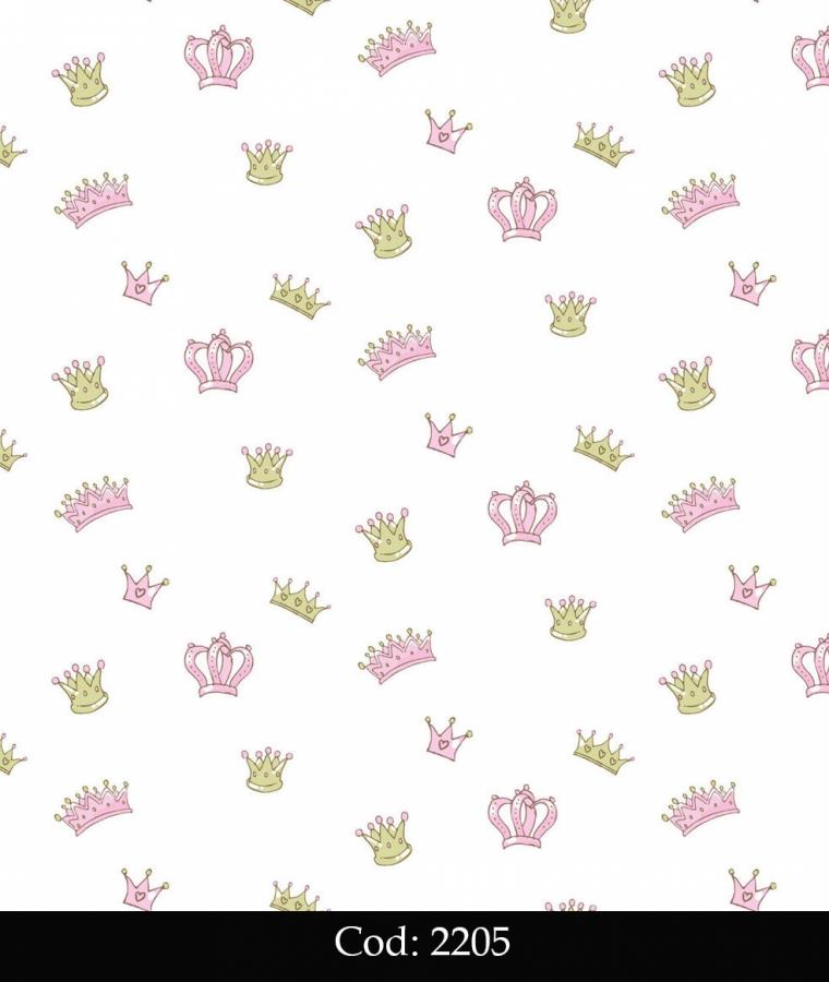 Tapet lavabil pentru fetite cod 2205 gama BIM BUM BAM - BLISS ART