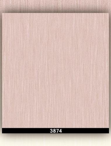 Tapet lavabil roz cu aspect de tesatura pentru dormitor si living gama DESIDERIA cod 3874