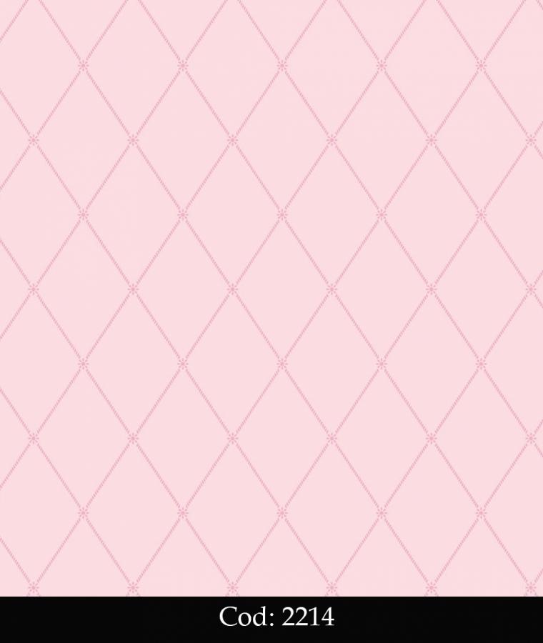Tapet lavabil roz cu romburi pentru camera fetita cod 2214 gama BIM BUM BAM - BLISS ART