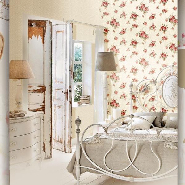 Tapet model floral pentru dormitor si living gama UNICA