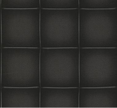 Tapet-negru-efect-3d-imitatie-capitonaj-piele-gama-COSMOPOLITAN-cod-576672