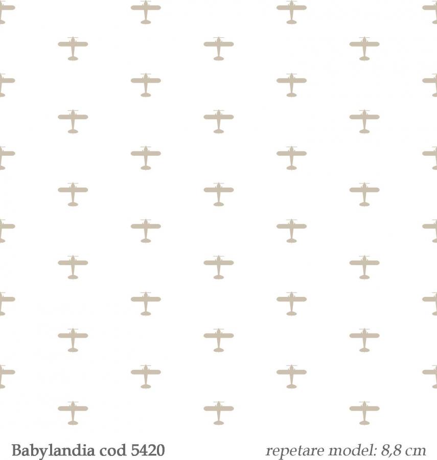 Tapet-pentru-baieti-avioane--gama-Babylandia-cristiana-masi-cod-5420