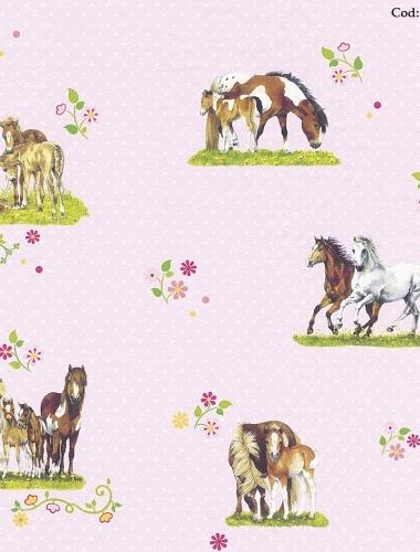 Tapet model cai pentru camera copiii gama VILLA COPENRATH