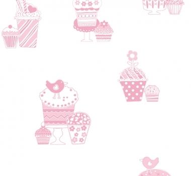 Tapet-pentru-copii-model-roz-cu-dulciuri-gama-FAVOLA-cod-3264