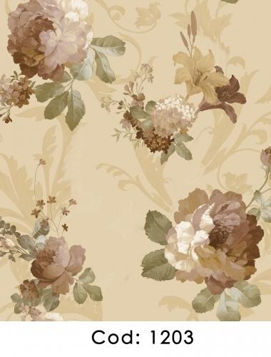 Tapet-pentru-dormitor-flori-crem-gama-CARLOTTA-cod-1203