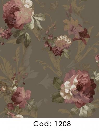 Tapet-pentru-dormitor-negru-cu-flori-roz-gama-CARLOTTA-cod-1208