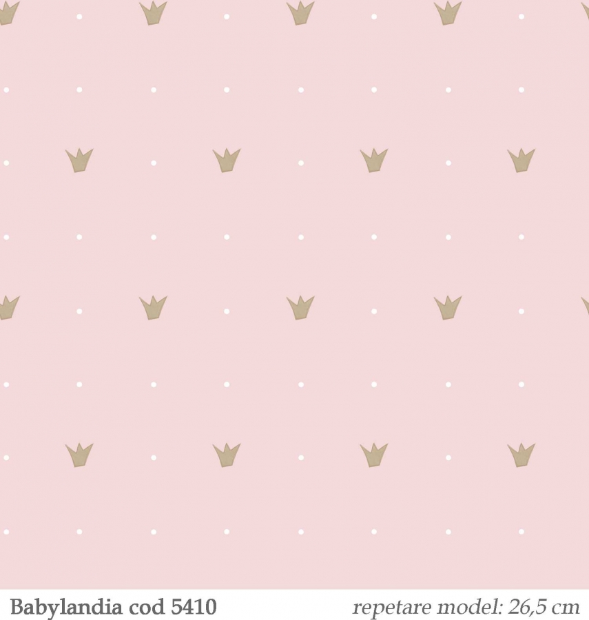Tapet-printese-pentru-camera-fetite-Babylandia-Cristiana-Masi-cod-5410