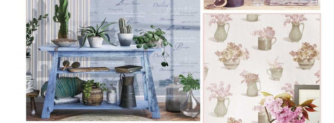 Tapet romantic floral Blooming Garden 2019