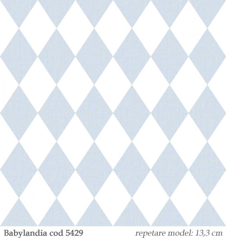 Tapet-romburi-bleu-pentru-copii--gama-Babylandia-cristiana-masi-cod-5429