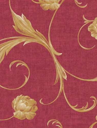 Tapet rosu floral vintage Villa Medici cod VMB-001-08-7