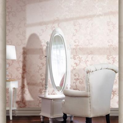 Tapet roz pentru dormitor din vinil superlavabil gama CARLOTTA COD 1234