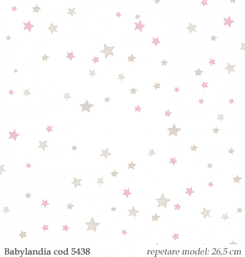 Tapet-stelute-roz-pentru-copii--gama-Babylandia-cristiana-masi-cod-5438