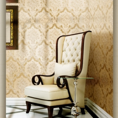 Tapet stil baroc pentru dormitor gama CARLOTTA cod 1263 si 1222