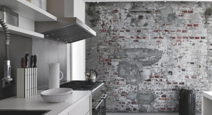 Tapet stil industrial perete cu aspect de beton Factory productie RASCH Germania