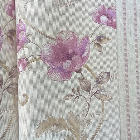 Tapet super lavabil pentru dormitor si living model maci roz gama DESIDERIA