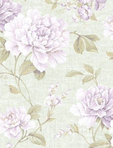 Tapet vintage cu trandafiri lila Villa Medici cod VMB-003-10-0
