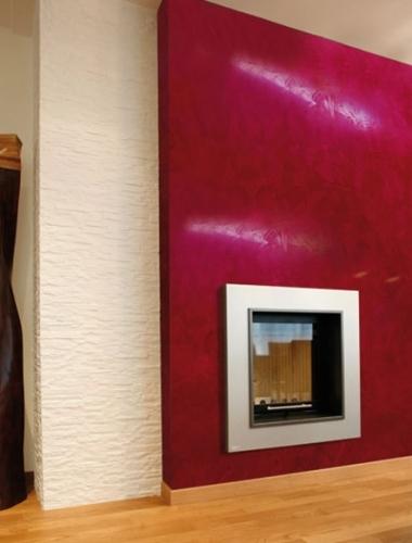 Vopsea decorativa Stucco Veneziano culoare rosie