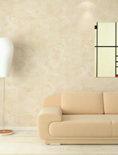 Vopsea decorativa lucioasa pentru interior Stucco Veneziano culoare bej productie San Marco Italia