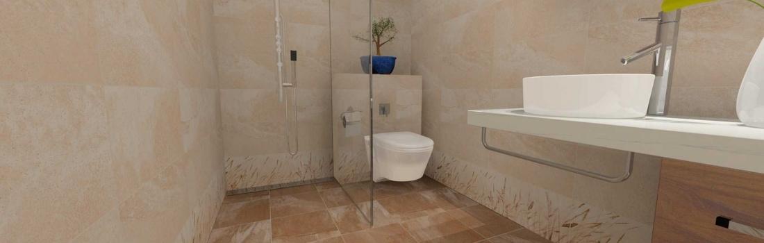 Amenajare baie cu faianta Icon Beige