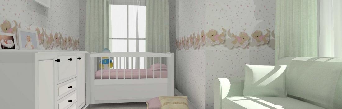 Amenajare camera copil cu tapet Babylandia