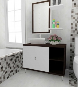 Amenajare baie cu faianta tip beton gama Bronx