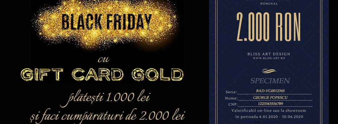 50% reducere cu Gift Card Gold