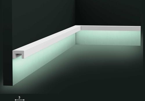 Plinta cu banda LED Orac Decor
