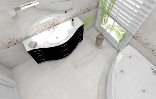 Amenajare baie cu gresie si faianta Icon