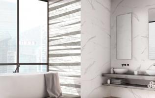 Faianta pentru baie imitatie marmura gama Tebas