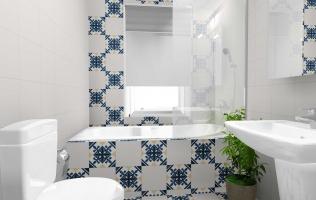 Amenajare baie cu gresie decorativa